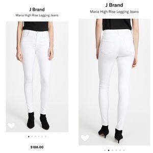J Brand Maria High Rise White Legging Jeans Sz 25